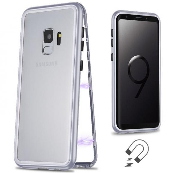 Husa 360 Magnetic Case pentru Samsung Galaxy S9 Plus, Silver [1]