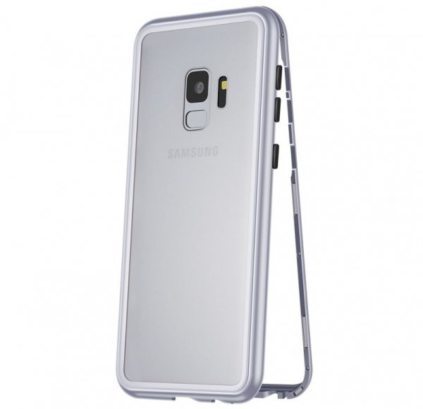 Husa 360 Magnetic Case pentru Samsung Galaxy S9 Plus, Silver 0