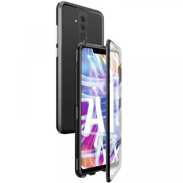 Husa 360 Magnetic Glass (sticla fata + spate) pentru Huawei Mate 20 Lite, Negru 0
