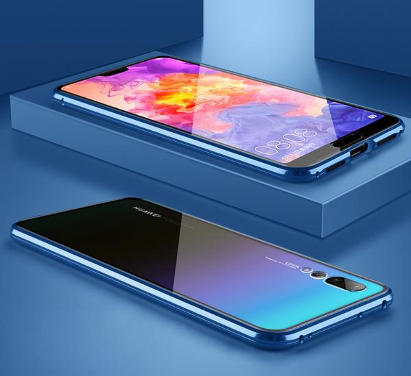 Husa 360 Magnetic Glass (sticla fata + spate) pentru Huawei P20 Pro, Albastru 2