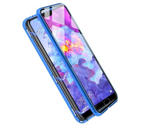Husa 360 Magnetic Glass (sticla fata + spate) pentru Huawei P20 Pro, Albastru 1
