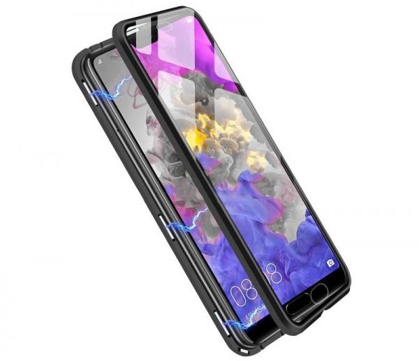 Husa 360 Magnetic Glass (sticla fata + spate) pentru Huawei P20 Pro, Negru 2