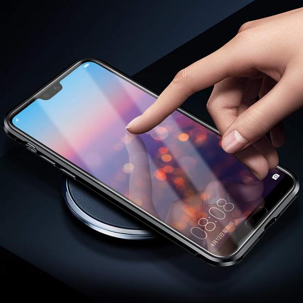 Husa 360 Magnetic Glass (sticla fata + spate) pentru Huawei P20 Pro, Negru 3