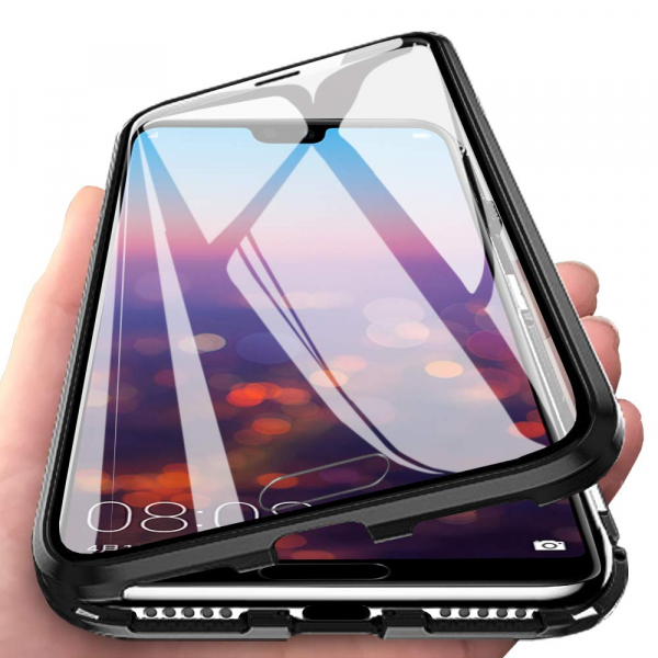 Husa 360 Magnetic Glass (sticla fata + spate) pentru Huawei P20 Pro, Negru 4