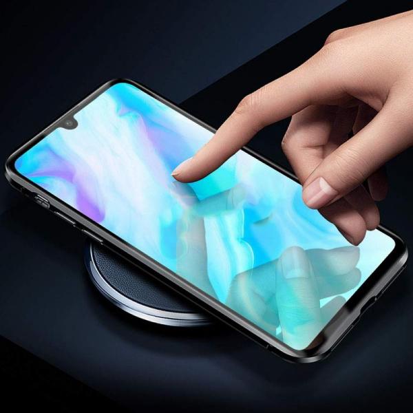 Husa 360 Magnetic Glass (sticla fata + spate) pentru Huawei P30 Lite, Negru 2