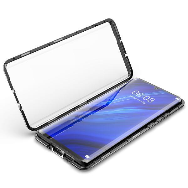 Husa 360 Magnetic Glass (sticla fata + spate) pentru Huawei P30, Negru 1