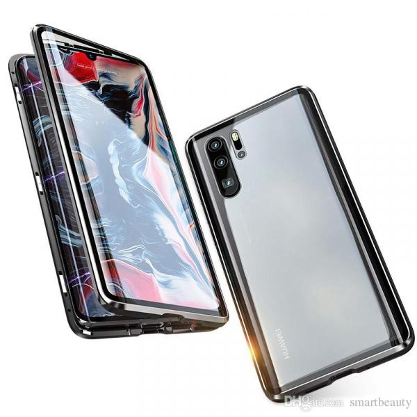 Husa 360 Magnetic Glass (sticla fata + spate) pentru Huawei P30 Pro, Negru 2
