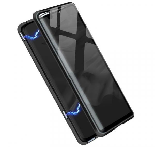 Husa 360 Magnetic Glass (sticla fata + spate) pentru Huawei P30 Pro, Negru 3