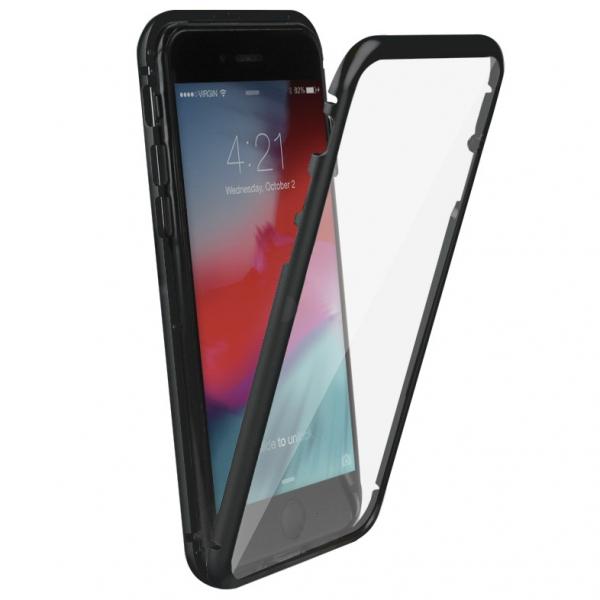 Husa 360 Magnetic Glass (sticla fata + spate) pentru iPhone 6 / 6S, Negru 2
