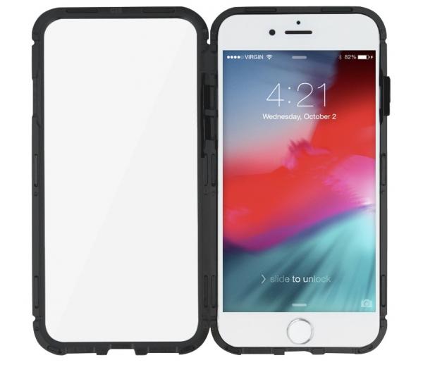 Husa 360 Magnetic Glass (sticla fata + spate) pentru iPhone 6 / 6S, Negru 3