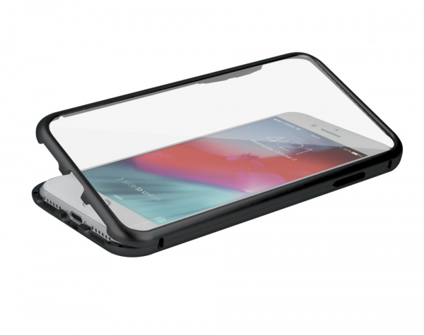 Husa 360 Magnetic Glass (sticla fata + spate) pentru iPhone 6 / 6S, Negru 4