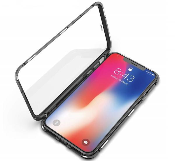 Husa 360 Magnetic Glass (sticla fata + spate) pentru iPhone XS Max, Negru 1