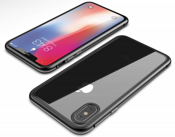 Husa 360 Magnetic Glass (sticla fata + spate) pentru iPhone XS Max, Negru 2