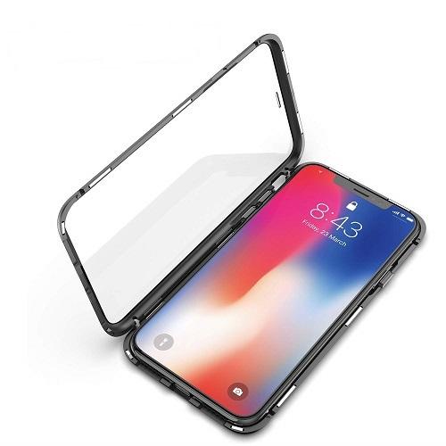 Husa 360 Magnetic Glass (sticla fata + spate) pentru iPhone XS, Negru 2