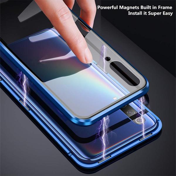Husa 360 Magnetic Glass (sticla fata + spate) pentru Samsung Galaxy A70, Albastru 2
