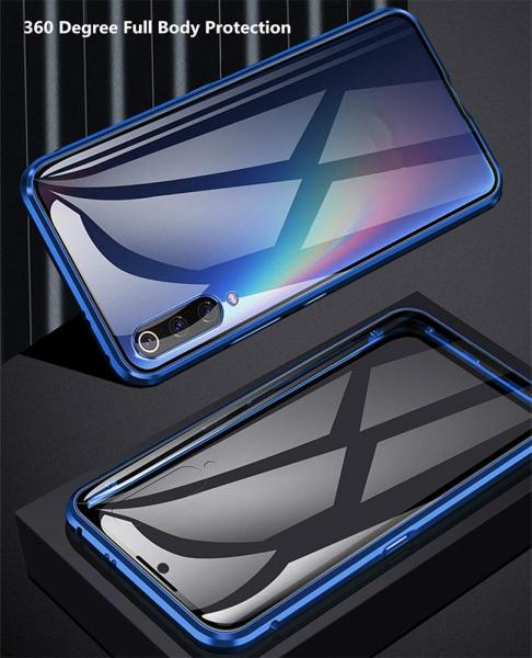 Husa 360 Magnetic Glass (sticla fata + spate) pentru Samsung Galaxy A70, Albastru 1