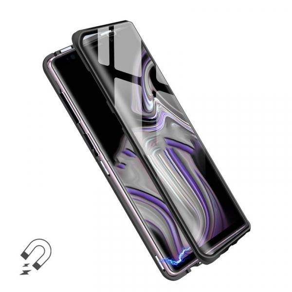 Husa 360 Magnetic Glass (sticla fata + spate) pentru Samsung Galaxy Note 9, Negru 2
