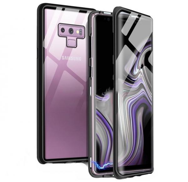 Husa 360 Magnetic Glass (sticla fata + spate) pentru Samsung Galaxy Note 9, Negru 0