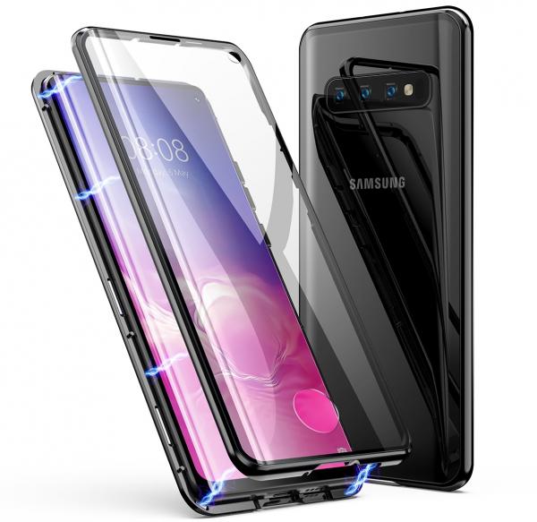 Husa 360 Magnetic Glass (sticla fata + spate) pentru Samsung Galaxy S10, Negru [0]