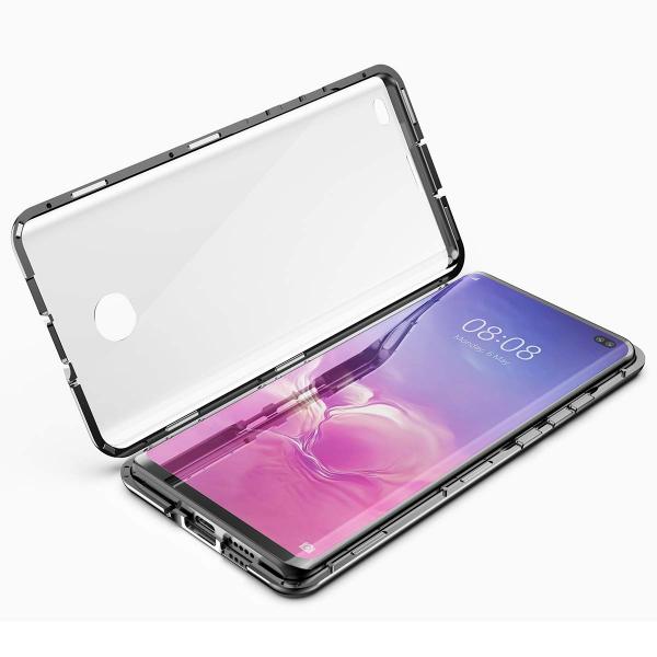 Husa 360 Magnetic Glass (sticla fata + spate) pentru Samsung Galaxy S10+, Negru 2