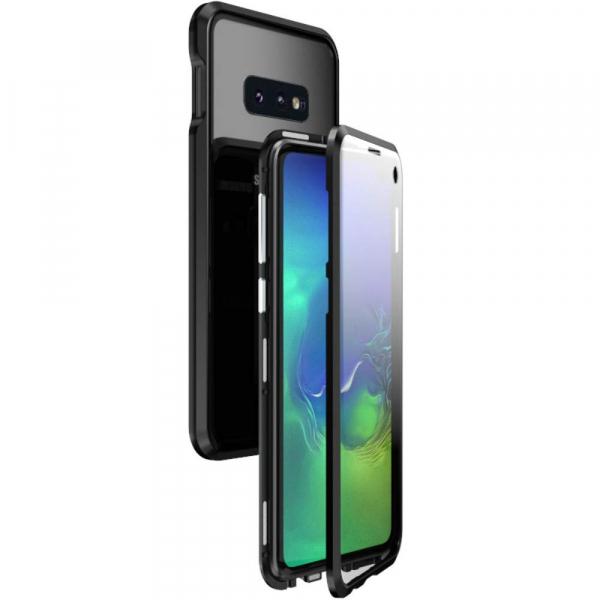 Husa 360 Magnetic Glass (sticla fata + spate) pentru Samsung Galaxy S10e, Negru 0