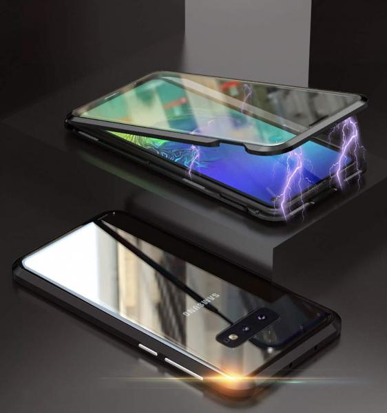 Husa 360 Magnetic Glass (sticla fata + spate) pentru Samsung Galaxy S10e, Negru 1