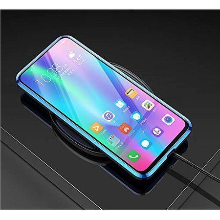 Husa Samsung Galaxy S20 Magnetic Glass 360 (sticla fata + spate), Albastru [3]