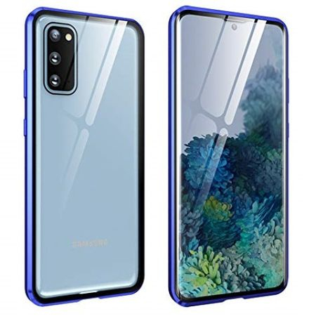 Husa Samsung Galaxy S20 Magnetic Glass 360 (sticla fata + spate), Albastru [0]
