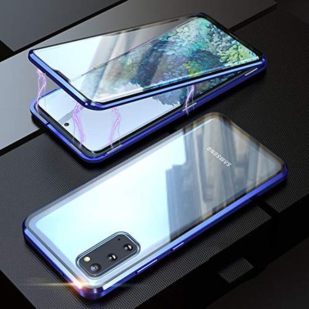 Husa Samsung Galaxy S20 Magnetic Glass 360 (sticla fata + spate), Albastru [2]