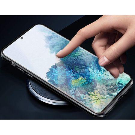 Husa Samsung Galaxy S20 Magnetic Glass 360 (sticla fata + spate), Negru 2