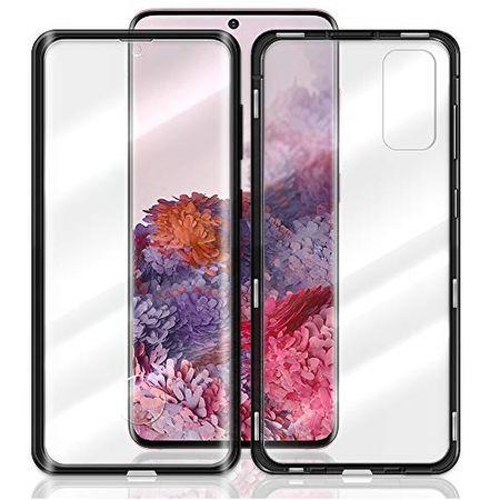 Husa Samsung Galaxy S20 Magnetic Glass 360 (sticla fata + spate), Negru 1