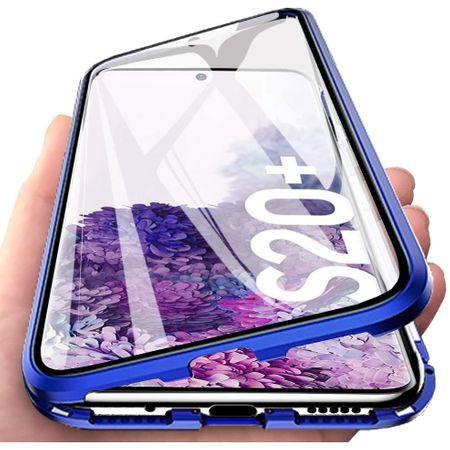 Husa Samsung Galaxy S20 Plus Magnetic Glass 360 (sticla fata + spate), Albastru [1]