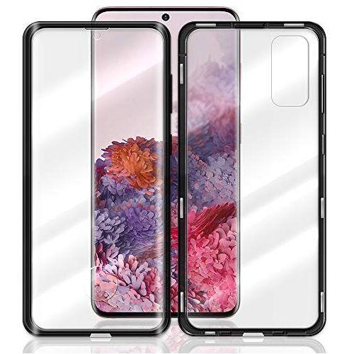 Husa Samsung Galaxy S20 Plus Magnetic Glass 360 (sticla fata + spate), Negru 1