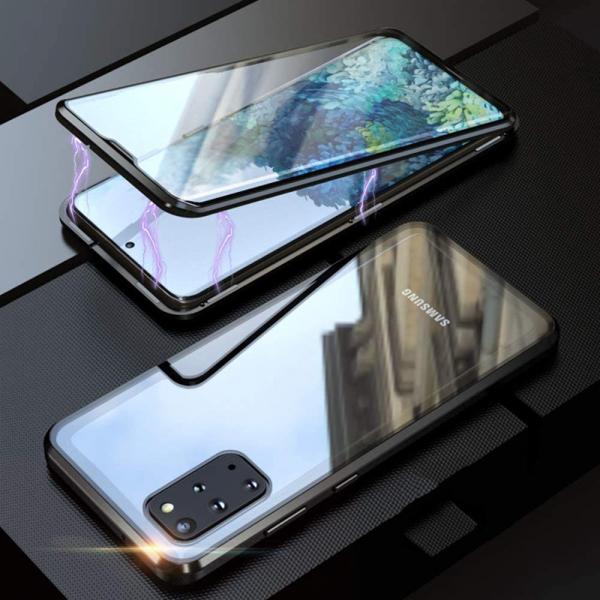 Husa Samsung Galaxy S20 Plus Magnetic Glass 360 (sticla fata + spate), Negru [3]