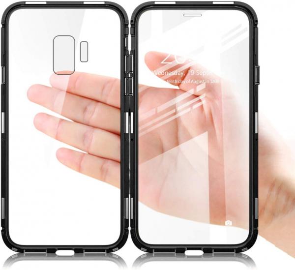Husa 360 Magnetic Glass (sticla fata + spate) pentru Samsung Galaxy S9, Negru 2