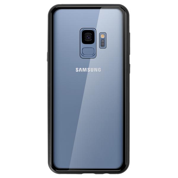 Husa 360 Magnetic Glass (sticla fata + spate) pentru Samsung Galaxy S9, Negru 4