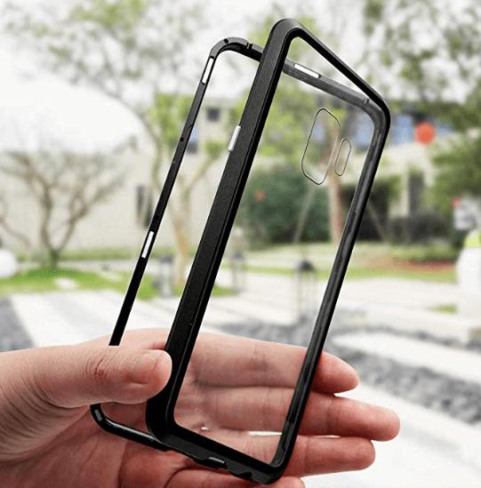 Husa 360 Magnetic Glass (sticla fata + spate) pentru Samsung Galaxy S9, Negru 3