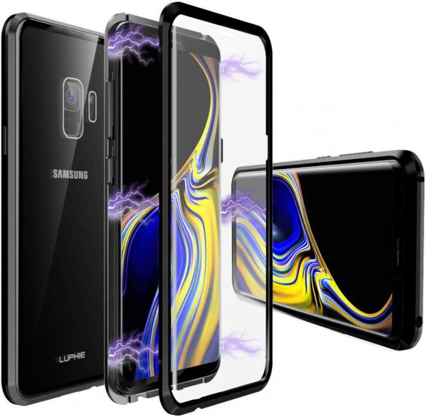 Husa 360 Magnetic Glass (sticla fata + spate) pentru Samsung Galaxy S9, Negru 0