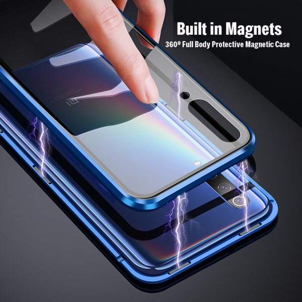 Husa 360 Magnetic Glass (sticla fata + spate) pentru Xiaomi Mi 9, Albastru 2