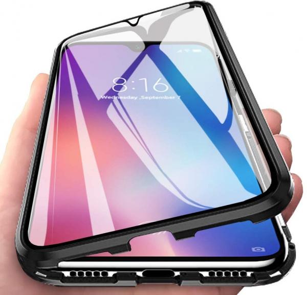 Husa 360 Magnetic Glass (sticla fata + spate) pentru Xiaomi Mi 9, Negru 1