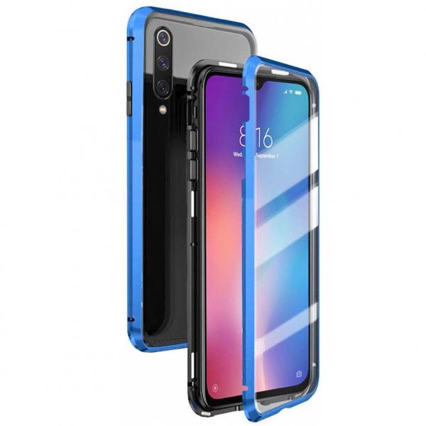 Husa 360 Magnetic Glass (sticla fata + spate) pentru Xiaomi Mi 9 SE, Albastru [0]