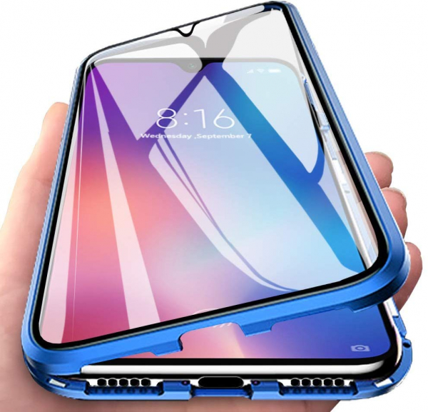 Husa 360 Magnetic Glass (sticla fata + spate) pentru Xiaomi Mi 9 SE, Albastru [1]