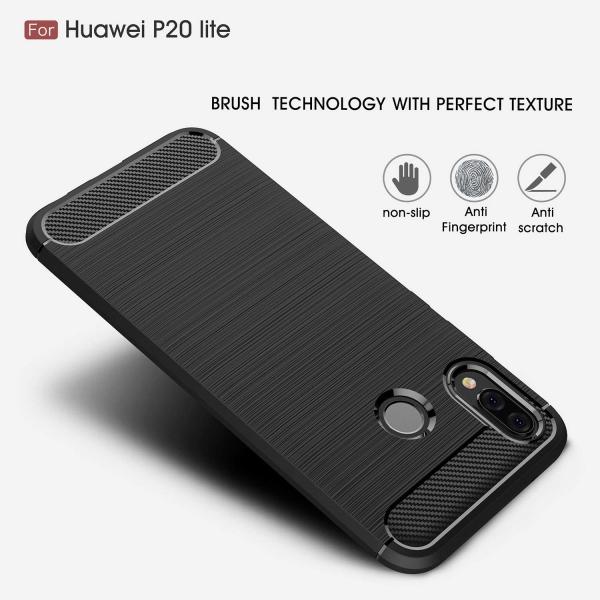 Husa Air Carbon Huawei P20 Lite, Negru 4
