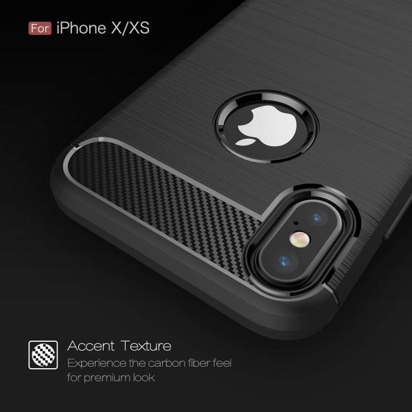 Husa Air Carbon iPhone XS, Negru 3