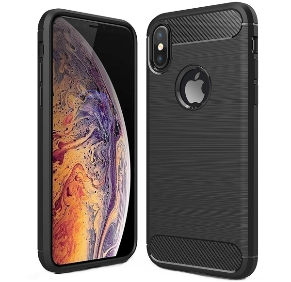 Husa Air Carbon iPhone XS, Negru 0