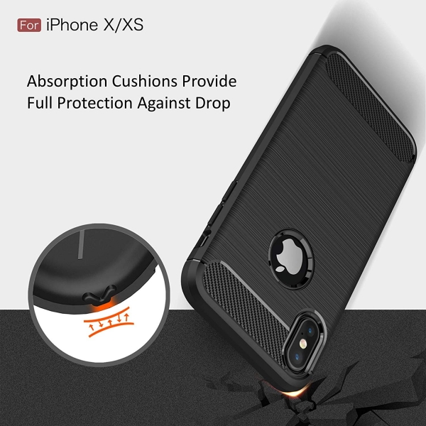 Husa Air Carbon iPhone XS, Negru 4