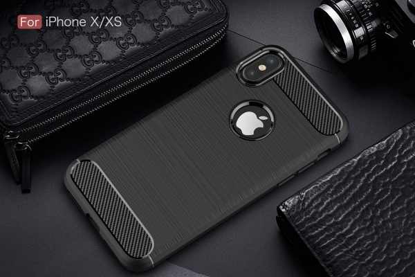Husa Air Carbon iPhone XS, Negru 1