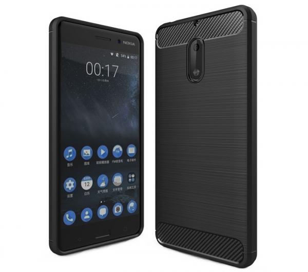 Husa Air Carbon Nokia 6, Negru [0]