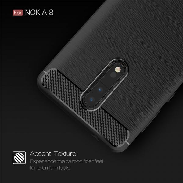 Husa Air Carbon Nokia 8, Negru 3