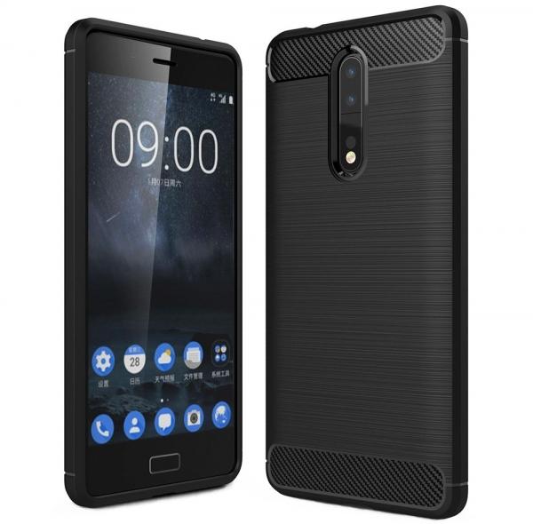 Husa Air Carbon Nokia 8, Negru 0